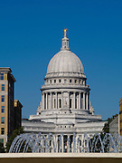 Various photographs of downtown Madison, Wisconsin and the State Capitol building, October 2011