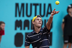 May 9, 2018 - Madrid, Spain - Argentine Diego Schwartzman during Mutua Madrid Open 2018 at Caja Magica in Madrid, Spain. May 09, 2018. (Credit Image: © Coolmedia/NurPhoto via ZUMA Press)