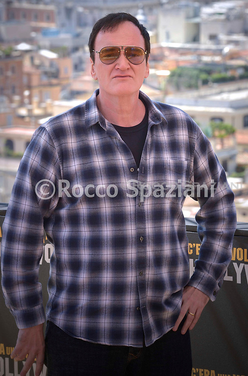 """ROME, ITALY - AUGUST 03: director Quentin Tarantino attends the photocall of the movie """"Once Upon a time in Hollywood"""" at Hotel De La Ville on August 03, 2019 in Rome, Italy."""