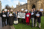 Faith leaders and campaigners gather to call for MP's and Peers to fix the anti lobbying law (gagging law) that the conservative government want to introduce. Organised by 38 dgrees.