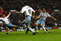 Henrik Larsson Scores goal<br />Manchester United 2006/07<br />Manchester United V Aston Villa 07/01/07<br />The FA Cup 3rd Round <br />Photo Robin Parker Fotosports International