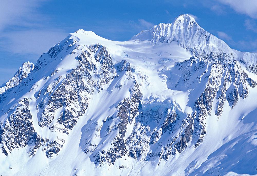 peak of Mt. Shuksan in the winter, Washington State, USA