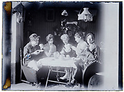 women only group having a tea and coffee time together 1900s France