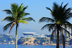 O Museu de Arte Contemporânea de Niterói é um projeto do Arquiteto Oscar Niemeyer, que começou a ser construído em 1991, no governo de Jorge Roberto da Silveira . Foi concluído na gestão do Prefeito João Sampaio, em 2 de setembro de 1996, tendo como núcleo inicial de seu acervo a coleção de arte brasileira de João Leão Sattamini Neto. FOTO: Jefferson Bernardes/ Agência Preview
