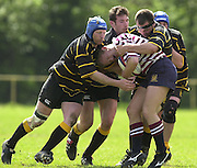 04/05/2002.Sport - Rugby Union.Tetley's County Championship 1 st Rd.Surrey vs Cornwall.Cornwall's defence holds up a Surrey attack....[Mandatory Credit, Peter Spurier/ Intersport Images].[Mandatory Credit, Peter Spurier/ Intersport Images].