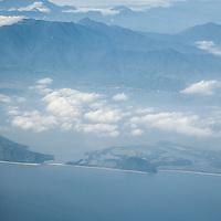 Aerial views of central Vietnam near Da Nang, Vietnam.