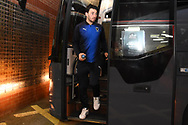 AFC Wimbledon defender Will Nightingale (5) arrives during the EFL Sky Bet League 1 match between Walsall and AFC Wimbledon at the Banks's Stadium, Walsall, England on 12 February 2019.