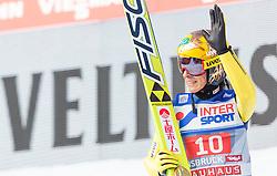 03.01.2016, Bergisel Schanze, Innsbruck, AUT, FIS Weltcup Ski Sprung, Vierschanzentournee, Bewerb, im Bild Noriaki Kasai (JPN) // Noriaki Kasai of Japan during his Competition Jump of Four Hills Tournament of FIS Ski Jumping World Cup at the Bergisel Schanze, Innsbruck, Austria on 2016/01/03. EXPA Pictures © 2016, PhotoCredit: EXPA/ JFK