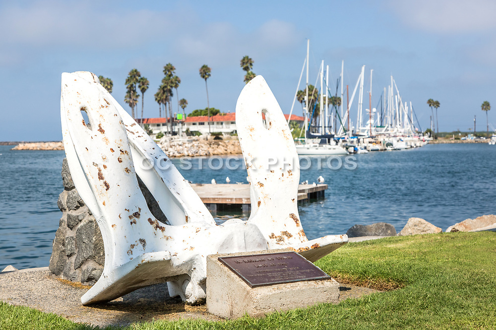 Anchor Memorial at Oceanside Harbor