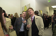 Anthony Fawcett and Malcolm McLaren. Out There opening. White Cube. April 13 2000<br />© Copyright Photograph by Dafydd Jones 66 Stockwell Park Rd. London SW9 0DA Tel 020 7733 0108 www.dafjones.com