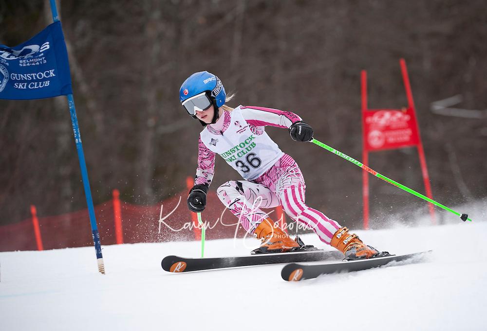 Gunstock Ski Club's Gus Pitou alpine ski race for j6, j5, j4, j3.  Gunstock Mountain Resort January 8, 2012.