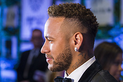July 19, 2018 - SãO Paulo, Brazil - SÃO PAULO, SP - 19.07.2018: INSTITUTO NEYMAR JR REALIZA LEILAO - The Neymar Jr Project Institute holds, for the second consecutive year, the charity auction for the institution's socioceducational activities. In this issue, the hosts of the evening, Neymar Jr. and his family, welcomed about 700 guests among athletes, celebrities and business people. The big news of the night was the 25 lots auctioned, presented by five celebrities. In the highlight the PSG player Neymar Jr grants interviews to the journalists attending the event. (Credit Image: © Emerson Santos/Fotoarena via ZUMA Press)