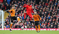 Football - 2016 / 2017 FA Cup - Fourth Round: Liverpool vs. Wolverhampton Wanderers<br /> <br /> Conor Coady of Wolverhampton Wanderers and Divock Origi of Liverpool during the match at Anfield.<br /> <br /> COLORSPORT/LYNNE CAMERON