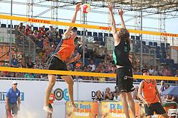 20160724 NED: NK Beachvolleybal 2016, Scheveningen <br />Ruben Penninga, Wessel Keemink, Mees Blom<br />©2016-FotoHoogendoorn.nl / Pim Waslander