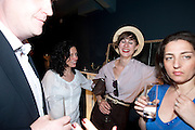 ELIZABETH FAIRTHORNE; VICTORIA PERRY, Pimlico Road party. 22 June 2010. -DO NOT ARCHIVE-© Copyright Photograph by Dafydd Jones. 248 Clapham Rd. London SW9 0PZ. Tel 0207 820 0771. www.dafjones.com.