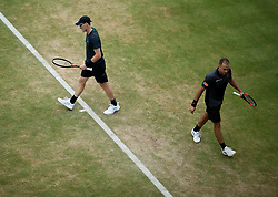 Great Britain's Jamie Murray and Brazil's Bruno Soares during day six of the 2017 AEGON Championships at The Queen's Club, London.