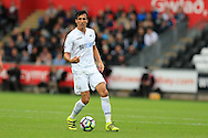 Jack Cork of Swansea city in action. Premier league match, Swansea city v Hull city at the Liberty Stadium in Swansea, South Wales on Saturday 20th August 2016.<br /> pic by Andrew Orchard, Andrew Orchard sports photography.