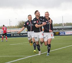 Falkirk's Craig Sibbald celebrates after scoring their first goal. Falkirk 2 v 1 Dunfermline, Scottish Championship game played 15/10/2016, at The Falkirk Stadium.
