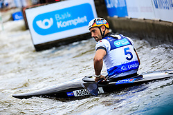 Aigner Hannes (GER) competes in Finals during Day 2 of 2018 ECA Canoe Slalom European Championships, on June 2nd, 2018 in Troja , Prague, Czech Republic. Photo by Grega Valancic / Sportida