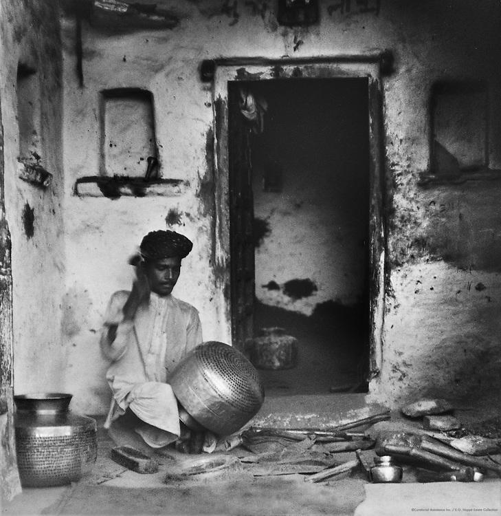 Brass Worker, Udaipur, India, 1929