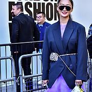 Fashionista attend London Fashion Week SS20 at 180 Strand on 17 September 2019, London, UK.