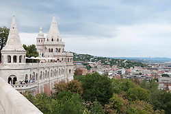 View of Fishermans Bastion, Budapest, Hungary