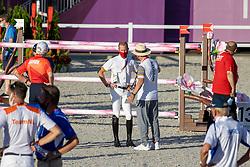 Bruynseels Niels, BEL, Weinberg Peter, GER Chef d'Equipe<br /> Olympic Games Tokyo 2021<br /> © Hippo Foto - Dirk Caremans<br /> 04/08/2021