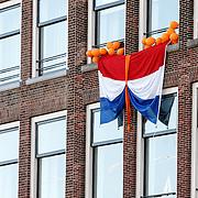 NLD/Dordrecht/20150427 - Koningsdag 2015 in Dordrecht, versierde huizen