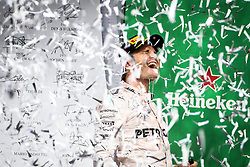 Formel 1: GP von Mexiko 2016 - Rennen in Mexiko-Stadt / 301016<br /> <br /> ***Nico Rosberg (GER) Mercedes AMG F1 celebrates his second position on the podium.<br /> 30.10.2016. Formula 1 World Championship, Rd 19, Mexican Grand Prix, Mexico City, Mexico, Race Day.<br />  Copyright: Bearne / XPB Images / action press ***