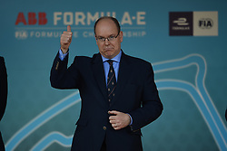 May 11, 2019 - Monaco, Monaco - His Most Serene Highness Prince Albert of Monaco on podium Cerimony of the 3rd edition of Monaco E-Prix, in port neighborhood in Monaco, France  (Credit Image: © Andrea Diodato/NurPhoto via ZUMA Press)