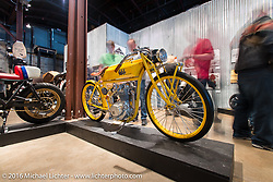 1976 Olds - Honda XL350 custom from Speed Machine Cycles at the Handbuilt Motorcycle Show. Austin, TX, USA. April 9, 2016.  Photography ©2016 Michael Lichter.