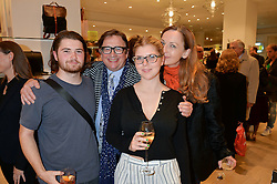 Left to right, FELIX CONRAN, SEBASTIAN CONRAN, COCO CONRAN and GERTRUDE THOME at the launch of the Conran Shop at Selfridge's, Oxford Street, London on 22nd September 2015.
