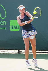 March 20, 2018 - Key Biscayne, FL, U.S. - Key Biscayne, FL - MARCH 20: Barbora Krejcikova (CZE) competes during the qualifying round of the 2018 Miami Open on March 20, 2018, at Tennis Center at Crandon Park in Key Biscayne, FL. (Photo by Aaron Gilbert/Icon Sportswire) (Credit Image: © Aaron Gilbert/Icon SMI via ZUMA Press)