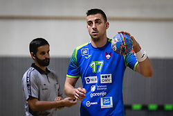 Nejc Cehte of Slovenia during friendly handball match between Slovenia and Nederland, on October 25, 2019 in Športna dvorana Hardek, Ormož, Slovenia. Photo by Blaž Weindorfer / Sportida