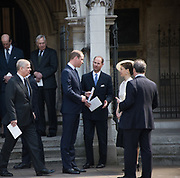 PRINCE WILLIAM; PRINCE EDWARD; LADY SARAH CHATTO, Service of thanksgiving for  Lord Snowdon, St. Margaret's Westminster. London. 7 April 2017