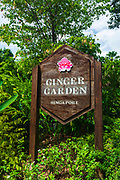 Entrance sign at the Ginger Garden, Singapore Botanic Gardens, Singapore, Republic of Singapore