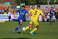 AFC Wimbledon midfielder David Fitzpatrick (19) dribbling and trying to create something during the EFL Sky Bet League 1 match between AFC Wimbledon and Bristol Rovers at the Cherry Red Records Stadium, Kingston, England on 8 April 2017. Photo by Matthew Redman.