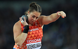Netherlands' Melissa Boekelman in the Women's Shot Put group A during day five of the 2017 IAAF World Championships at the London Stadium.