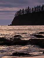 Bright surf at Teahwhit Head - Third Beach on the Olympic Paninsula, Olympic National Park, Washington, USA