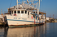 May 26, 2010, Boat used to aid in the oil cleanup after returning to Grand Isle via Bajou Rigauo, a waterway in  Barrataria Bay. Oil washed up on the shores of Grand Isle and into the sounding bay the third week after the Deepwater Horizon rig blew up and the BP well started spilling into the Gulf of Mexico.