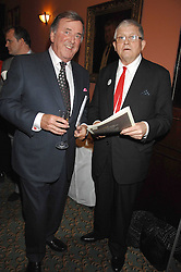 Left to right, TERRY WOGAN and DAVID HOCKNEY  at the 2008 Oldie of The year Awards and lunch held at Simpsons in The Strand, London on 11th March 2008.<br /><br />NON EXCLUSIVE - WORLD RIGHTS