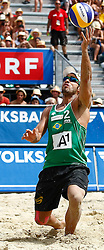 07.08.2011, Klagenfurt, Strandbad, AUT, Beachvolleyball World Tour Grand Slam 2011, im Bild Bruno Oscar Schmidt (BRA), EXPA Pictures © 2011, PhotoCredit: EXPA/ Erwin Scheriau