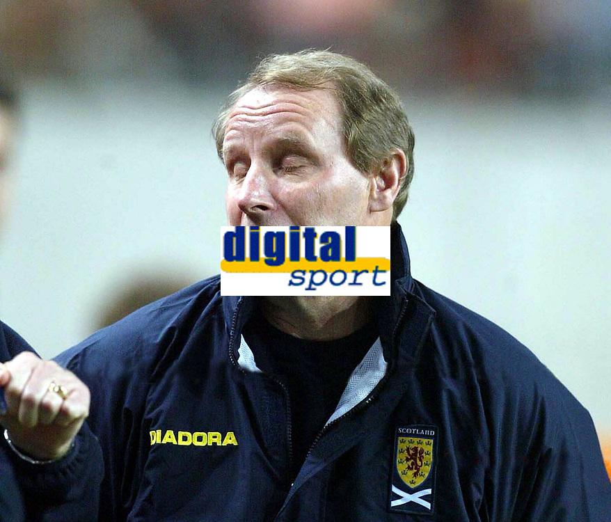 Fotball<br /> Play Off til EM 2004<br /> 19.11.2003<br /> Nederland v Skottland<br /> Foto: Digitalsport<br /> Norway Only<br /> <br /> Berti VOGTS  Fussballtrainer Schottland