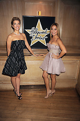 Left to right, INGE THERON and DAYA FERNANDEZ at a party to celebrate the launch of Hollywood Domino - a brand new board game, held at Mosimann's 11b West Halkin Street, London on 7th November 2008.  The evening was in aid of Charlize Theron's Africa Outreach Project.