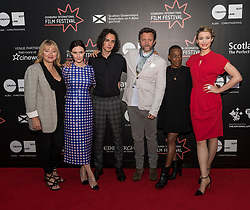 Photo-opportunity for The Dark Mile directed by Gary Love at the Edinburgh International Film Festival<br /> <br /> Pictured: Rebecca Calder, Finlay MacMillan, Gary Love, Marcia Rose, Deirdre Mullins