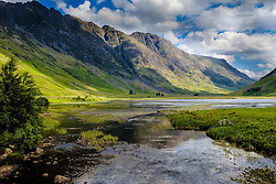 The River Coe flowing into Loch Achtriochtan in Glencoe, Highlands of Scotland<br /> <br /> (c) Andrew Wilson   Edinburgh Elite media