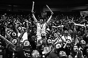LGD fans cheer as their team beats Digital Chaos in their third round game on day three of The International 2017, a tournament for the video game Dota 2, where teams from all over the world compete for $23 million in prize money, Wednesday, Aug. 9, 2017 at KeyArena.  (Genna Martin, seattlepi.com)
