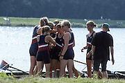 Hazewinkel. BELGIUM, USA JW8+, Bronze Medalist, Bow. Erin BECHT,  Dana PEIRCE,  Elizabeth NELSON,  Carolyn GOLTRA,  Portia MC GEE,  Rachel BRUNELLE,  Sarah BRENNAN,  Alison HICKEY,  and  Cox, Carrie HUTTENLOCHER. competing at the 1997 FISA Junior World Rowing Championships. Course, Bloso Rowing Centre, Heindonk, Willebroek, Mechelen, Belgium.<br /> <br /> <br /> [Mandatory Credit; Peter Spurrier/Intersport-images] 1997 Junior World Rowing Championships, Hazewink