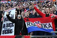 Croatia fans during the UEFA Nations League match between England and Croatia at Wembley Stadium, London, England on 18 November 2018.