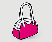 """JumpFromPaper is a playful and innovative line of bags created by Taipei-based design duo, Chay Su and Rika Lin.<br /> <br /> Chay Su and Rika Lin  got sketching their dream designer bag. A surprising idea popped up – """"How amazing it would be if a two-dimensional hand-drawn illustration could come to life as a real bag!"""" They explored every possibility, rendering fantasy handbags in perspective, and giving birth to JumpFromPaper.<br /> <br /> Cartoon-like outlines and bright and cheerful colours add a brisk yet funky flavour. And despite the slim appearance, each JumpFromPaper bag has a roomy interior to accommodate personal belongings and even iPad/tablets.<br /> JumpFromPaper takes handbag design on a new journey, ready to twist people's view!<br /> ©JumpFromPaper/Exclusivepix"""
